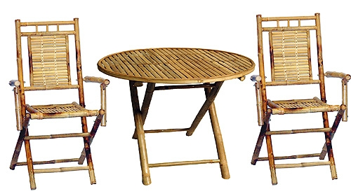 Bamboo Three Piece Table Set