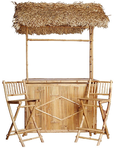 Tiki Bar Central Huts Bamboo Furniture Tables