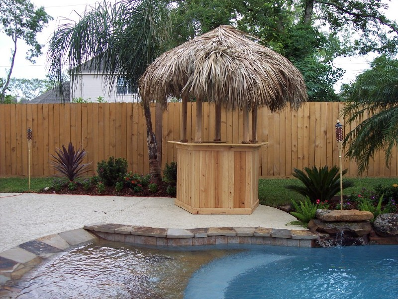 Cypress Pentagon Tiki Bar Tiki Huts Palm Trees